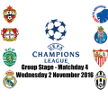Jadwal Liga Champions Matchday 4 Rabu 2 November 2016