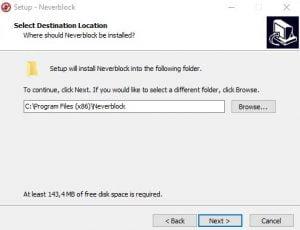 Pilih Lokasi Install Neverblock