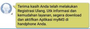 SMS Kalau Registrasi Ulang Kartu Prabayar Berhasil