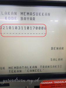 Masukkan Kode Bayar (KD BYR) yang ada di SMS