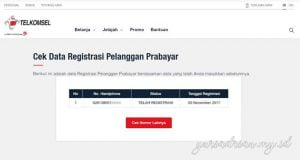 Data Registrasi Pelanggan Prabayar Terlkomsel