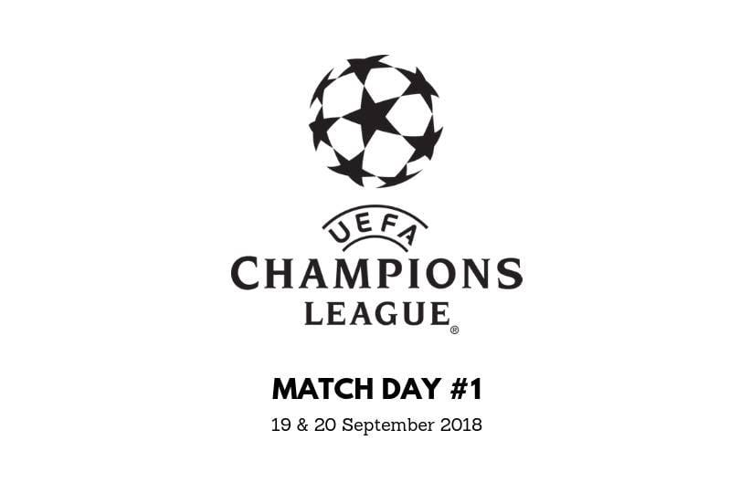 Jadwal Liga Champions 19 dan 20 September 2018