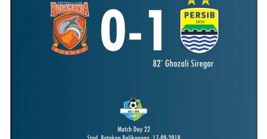 Persib Menang Lawan Borneo FC