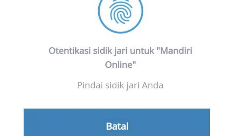 Aktifkan otentikasi sidik jari Mandiri Online