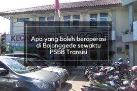 Apa yang boleh beroperasi di Bojonggede sewaktu PSBB Transisi