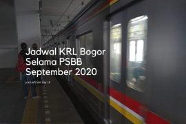 Jadwal KRL Bogor selama PSBB September 2020