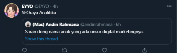 10 Nama Anak Ada Unsur Digital Marketing (Ala Anak Twitter)
